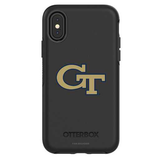 IPH-X-BK-SYM-GT-D101: FB Georgia Tech iPhone X Symmetry Series Case